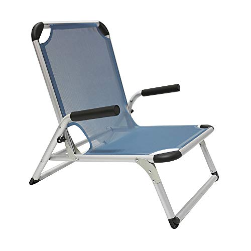 Homecall - Aluminium, opvouwbare strandstoel, Blauw