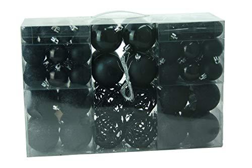 Exclusieve kerstballen, set van 100 stuks, kleur zwart