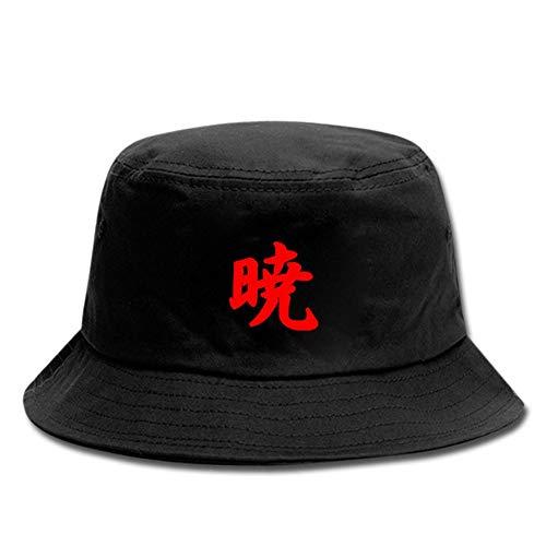 ALTcompluser Anime Naruto Shippuden Bucket Hat voor heren en dames, zonnehoed, vissershoed, vissershoed, voor wandelen, kamperen, reizen, vissen