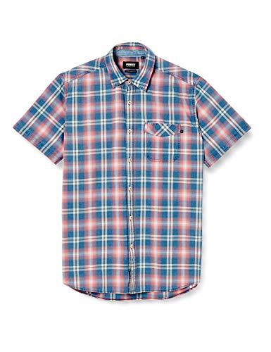 Pioneer Herenshirt Indigo Check vrijetijdshemd