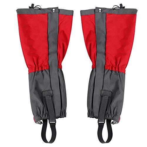 Sneeuw legging beenkappen, 1 paar outdoor sneeuw beenkappen Waterdichte beenkappen Boot Cover Wandellegging beenkappen voor skiën, wandelen, kamperen, klimmen(Rood)