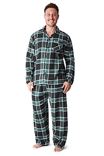 CityComfort Heren pyjama set, tartan geborsteld katoen pyjama, kerstcadeaus voor hem - multi - M