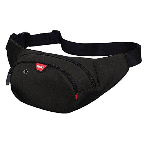 Heuptas voor dames en heren, met zakken voor wandelen, fitness, fietsen, outdoor, sport, heuptas, vakantie, Doggy Bag, geldpouch Pack
