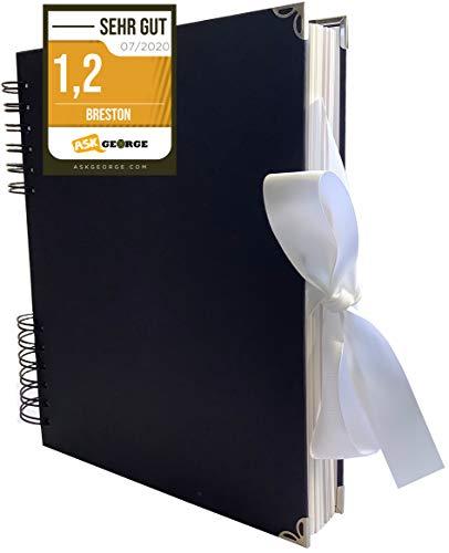 Premium Gastenboek I Foto-album Witte Pagina's I 80 pagina's voor foto's I Hoogwaardig plakboek voor zelfcreatie I Doe-het-zelf fotoboek Zelfklevend I Album 26x20x3cm