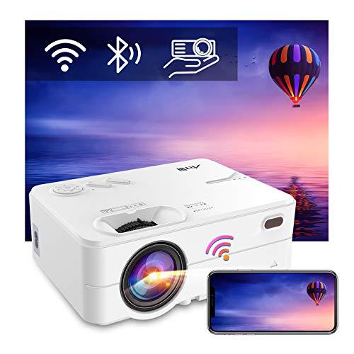 Beamer WiFi Bluetooth, Artlii Enjoy2 Mini Beamer, Native 1080p Full HD Ondersteund, Home Theater Projector Max 300
