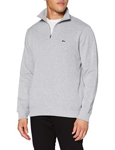 Lacoste Heren sweater, zilverkleurig/zwart, S
