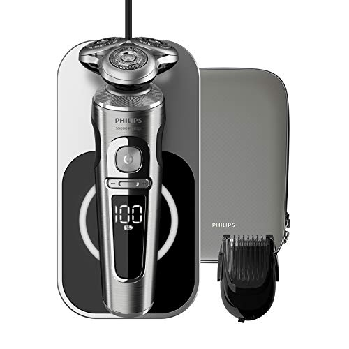 Philips Elektrisch Scheerapparaat S9000 Prestige - Volgt gezichtcontouren - Nat en droog scheren - Extra glad door precisiemesjes - 3 Standen - Met precisietrimmer - Met Qi-oplaadpad - SP9861/16