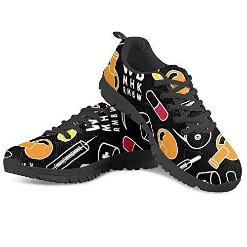 POLERO Nurse Shoes verpleegsterschoenen dames heren sneaker veters sportschoenen ademende loopschoenen voor lente zomer 36-45 EU