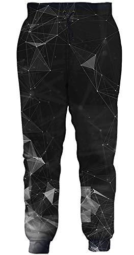 Loveternal Unisex joggingbroek 3D print broek coole jogger casual broek sweatpants S-XXL, Geometric 2, M