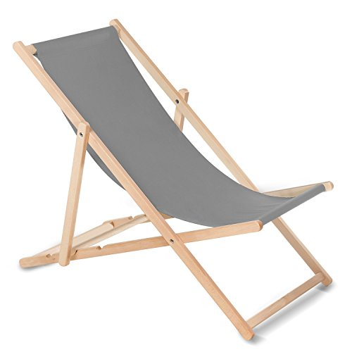GreenBlue Ligstoel voor volwassenen, uniseks, grijs