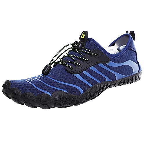 Heren en vrouwen Waterschoenen, sneldrogende vijf-vinger strand Sneakers, blauw, 36