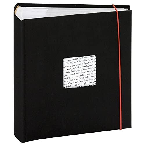 Panodia fotoalbum Linea zwart met zakken 300 foto's 11x15cm
