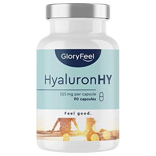 Hyaluronzuur Capsules - 525 mg hoge dosering - 90 veganistische capsules (3 maanden) - 500-700 kDa molecuulgrootte - in het laboratorium geteste zonder toevoegingen geproduceerd in Duitsland
