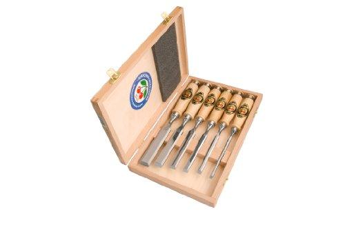 Kirschen 1101000 Nummer 1101 Stevige beitel Set met Hoornbalk Handgrepen - Meerkleurig (6-delig)