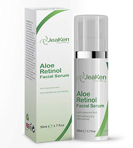 ALOE RETINOL FACE SERUM By JeaKen - Meer dan gewoon Retinol-serum - Natuurlijke anti-rimpelcrème - rijke bron van retinol en beta-caroteen - 50 ml fles Retinol-serum met hoge sterkte voor het gezicht