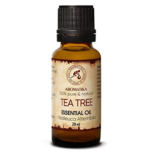 Tea Tree olie - etherische olie 20ml, 100% puur & natuurlijk, essentiële olie - aromatherapie - geurolie - geurverspreider - ontspanning - toevoegen aan bad & cosmetica - massage - wellness - aroma lamp of elektrische diffuser