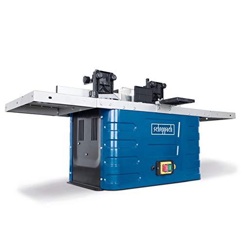 Scheppach Freesmachine HF50 (1500 Watt, 230 – 240 Volt, spantangen van 6,8 tot 12 mm, instelbare spindelhoogte max. 40 mm, variabele toerentalregeling, incl. tafelverbrederingen)