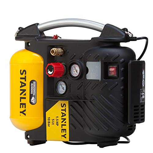 Stanley AIRBOSS DN200/10/5 Compressor, 1100 W, 230 V, Geel
