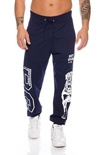 Raff & Taff joggingbroek sweatpants sportbroek Bulldog bodyguard van hoogwaardige katoenmix, donkerblauw, 3XL