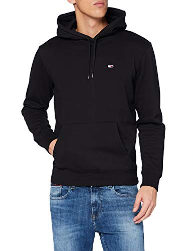 Tommy Jeans Heren TJM Regular Fleece Hoodie Sweater, Zwart, M