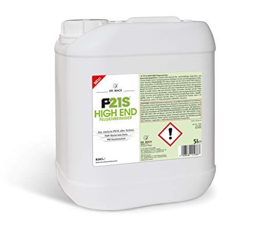 Dr. Wack P21S High END velgenreiniger, 5 liter, premium velgenreiniging voor alle velgen, testwinnaar, pH-huidvriendelijk, hoogwaardige velgenverzorging, Made in Germany