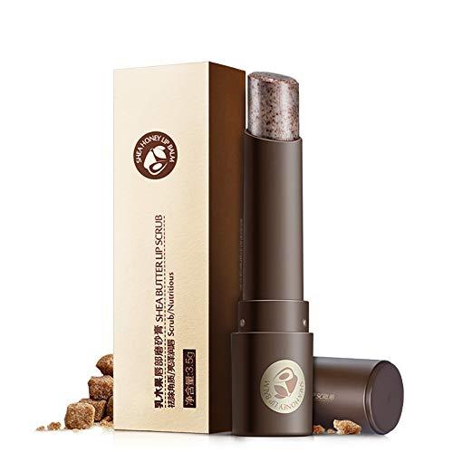 1 ST Organische Lip Scrub Hydraterende Exfoliator Lip Scrubs Natuurlijke Ingrediënt Lip Reparatie Behandeling Verwijderen Dode Huid Stick voor Droog, Schrale Lippen