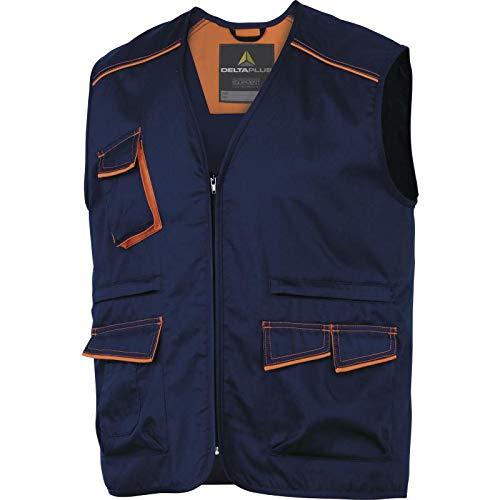 Delta Plus M6GIL polyester/katoen panostyle werkvest, Small, marineblauw-oranje, 1