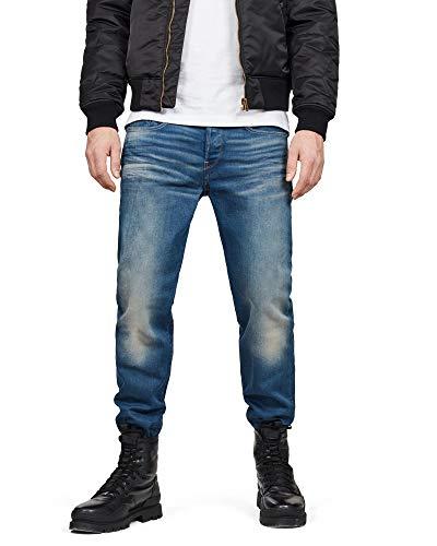 G-STAR RAW Heren 3301-loose-jeans jeans jeans, Blauw Medium Denim leeftijd, 28W X 30L