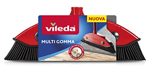Vileda 159821 bezem Multi Rubber, andere, rood/zwart