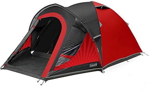 Coleman Blackout Tent, 3/4 personen, 3/4 man tent, iglotent, festivaltent, lichte koepeltent met voortent, gepatenteerde nachtzwarte slaapcabine, waterdicht WS 4.500 mm