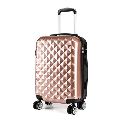 Kono Reiskoffer Trolley Rolkoffer 4 Rollen Dubbele Wielen Harde Schaal Koffer Handbagage M 55cm & 40 L ABS + PC