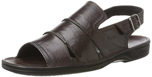Sioux Venezuela sandalen voor heren, Bruin Bordeaux, 42 2/3 EU