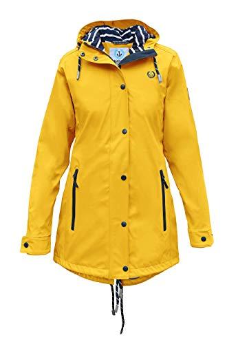 MADSea Dames regenjas Friesennerz geel waterdicht, kleur: geel, maat: 36