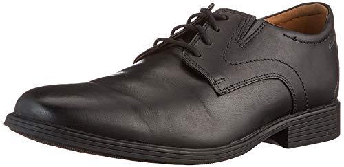 Clarks Whiddon Plain Oxford-schoenen voor heren, zwart leder, 42.5 EU