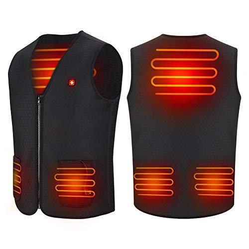 Haofy Thermisch vest voor dames en heren, met USB-aansluiting, elektrisch verwarmd, met 3 temperaturen, voor outdoor, wandelen, motorrijden en jagen tijdens koud weer en de winter
