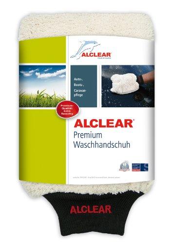 ALCLEAR microvezel handschoen om de auto te wassen met shampoo: beter dan een autowasspons, polijstdoek of microvezeldoek; voor auto, motorfiets