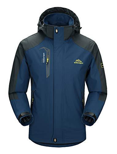 MAGCOMSEN Mens waterbestendig jas Hooded Softshell Outdoor winddicht berg wandelen werken jassen, Koe Blauw, S