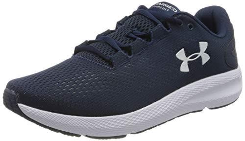 Under Armour Men's Charged Pursuit 2 Running Shoe, Blue Academy White White, 8 UK
