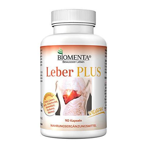 BIOMENTA Liver Plus - met cholinebitartraat, paardenbloem, artisjokken, mariadistel, kurkuma, alsem - 90 levercapsules - veganistisch