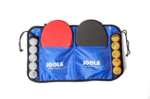 JOOLA tafeltennisset Family, 4 tafeltennisbatjes + 10 tafeltennisballen + tas