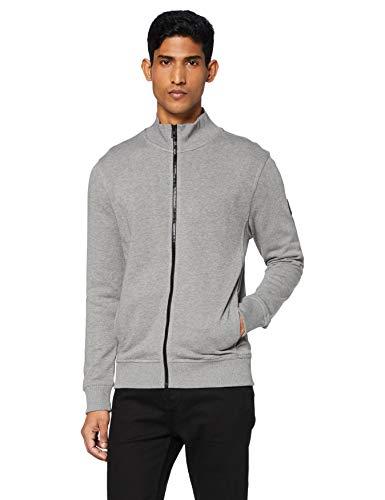 BOSS Heren Zkybox 1 jersey jas van Afrikaans katoen, lichtgrijs, S