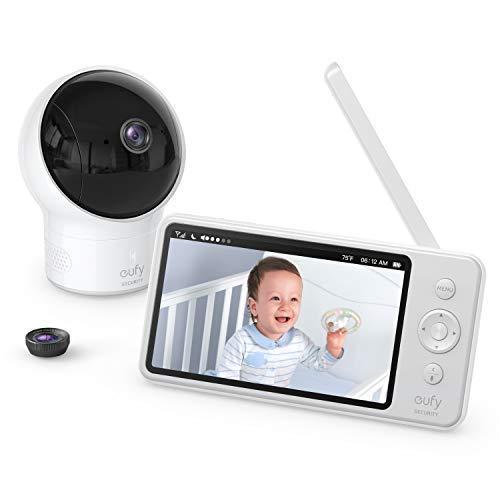 eufy by Anker Security babyfoon Babyphone Video Baby Monitor met Camera en Audio, 720p HD Resolutie, 5 inch scherm, 110 ° Brede Hoek Inbegrepen, Nachtvisie, zorgeloze levensduur van de batterij