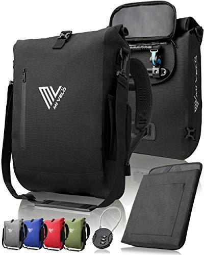 3 in 1 fietstas - fietsrugzak - schoudertas waterdicht 100% PVC-vrij, met laptopvak, bagagedragertas voor alle soorten fietsdragers