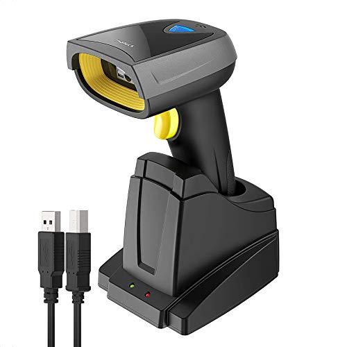 Inateck 2D Barcodescanner Draadloos, Bluetooth QR-codescanner, 2D Imager met 2000 mAh-batterij, Schermbarcodes lezen, BCST-52