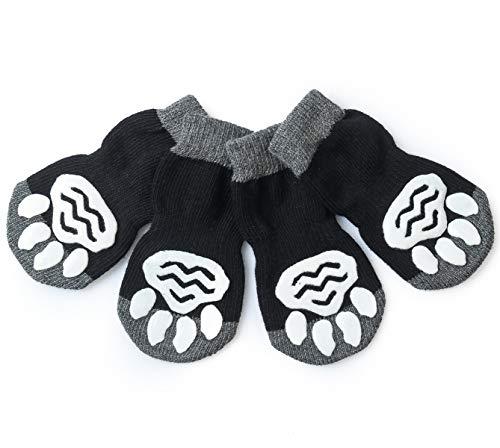 Huisdier Heroic 8 Maten Anti-Slip Hond Sokken Kat Sokken Hond Kat Paw Protector Met Rubber Versterking, Tractie Controle voor Indoor Wear, Fit Extra Kleine tot Extra Grote Honden Katten, XL