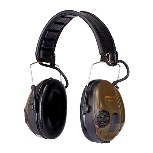 3M Peltor SportTac Gehoorbescherming groen - Intelligente oorbeschermers met effectieve geluidsisolatie speciaal voor jagers en sportschaatsen - Dynamische geluidsregeling - SNR = 26dB