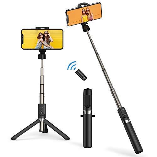 ATUMTEK Bluetooth Selfie Stick Driepoot, 360° Rotatie Mini Verlengbare Selfie Stick met Draadloze Bluetooth Remote voor iPhone 11/11 Pro/XS Max/XR/XS/X/8/7/6s/6 Plus, Samsung, Huawei Smartphones