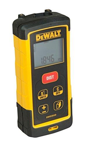 DeWalt Laser-afstandsmeter/LDM (50 m, voor lengte-, oppervlakte- en volumemeting, in meters en INCH, met geheugenfunctie voor 5 metingen, zelfverklarende bediening, incl. 2x LR03 batterijen) DW03050