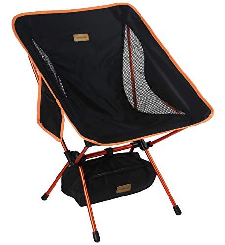 Trekology YIZI GO Campingstuhl kompakt – Outdoorstuhl faltbar, kleiner, ultraleichter und klappbarer Campingstuhl in einer Tasche für Outdoor, Zelten, Picknick, Wandern