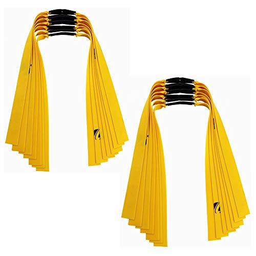 Kiwochy 14 set Vervangend rubber plat Armbanden voor katapulten Hunting Catapulten Elastiekjes Elastiekjes Trekkoorden Tape voor Hunting Catapult Slingshot